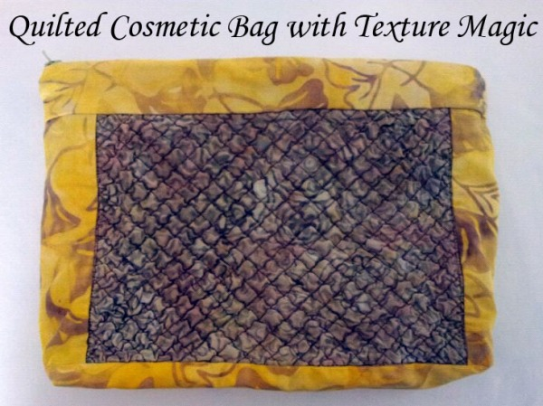 Quilted Cosmetic bag with texture magic