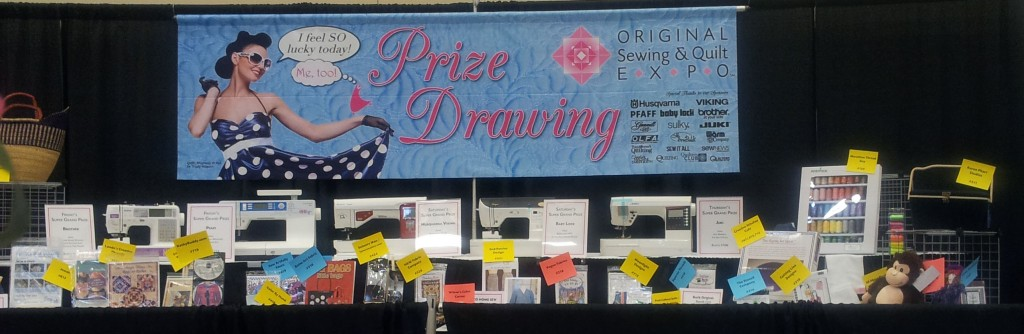 sew and quilt expo prize drawings